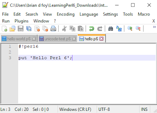 Hints for Perl 6 on Windows – Learning Perl 6